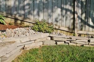 Flagstone rock garden edging